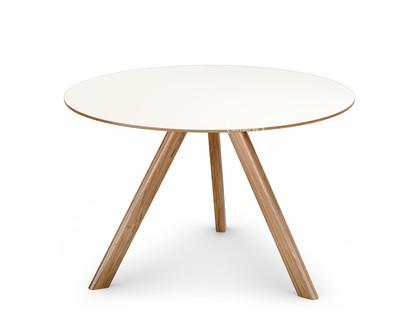 Copenhague Round Table CPH20 Ø 120 x H 74|Eiche lackiert|Linoleum off-white
