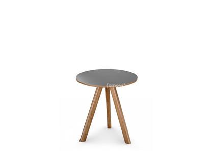 Copenhague Round Table CPH20 Ø 50 x H 49|Eiche lackiert|Linoleum grau