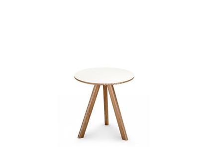 Copenhague Round Table CPH20 Ø 50 x H 49 Eiche lackiert Linoleum off-white