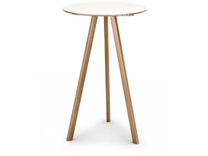 Copenhague Round Table CPH20 Ø 70 x H 105|Eiche lackiert|Linoleum off-white