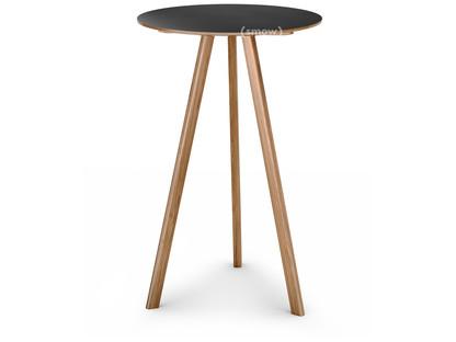Copenhague Round Table CPH20 Ø 70 x H 105|Eiche lackiert|Linoleum schwarz