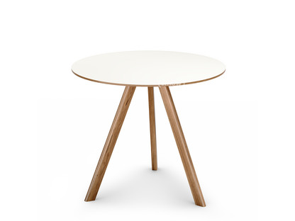 Copenhague Round Table CPH20 Ø 90 x H 74|Eiche, klar lackiert|Linoleum off-white