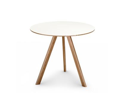 Copenhague Round Table CPH20 Ø 90 x H 74|Eiche lackiert|Linoleum off-white