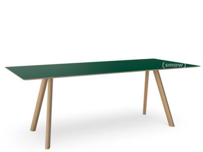 Copenhague Table CPH30 L 200 x B 90 x H 74 Eiche, klar lackiert Linoleum grün