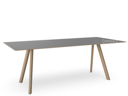 Copenhague Table CPH30 L 200 x B 90 x H 74|Eiche, matt lackiert|Linoleum grau