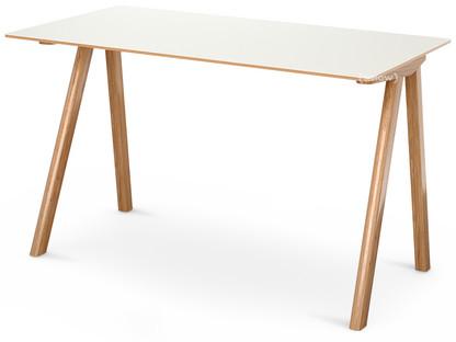Copenhague Desk CPH90 Eiche, klar lackiert|Linoleum off-white