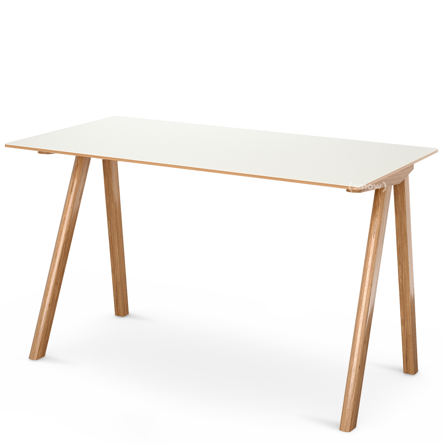 Hay Copenhague Desk Cph90 Eiche Klar Lackiert Linoleum Off White