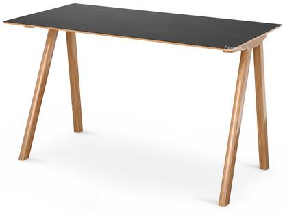 Copenhague Desk CPH90 Eiche, klar lackiert|Linoleum schwarz