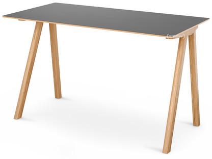 Copenhague Desk CPH90 Eiche, matt lackiert|Linoleum grau