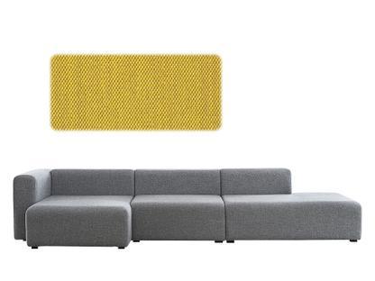 Mags Sofa mit Récamière Armlehne links Steelcut Trio 453 - gelb