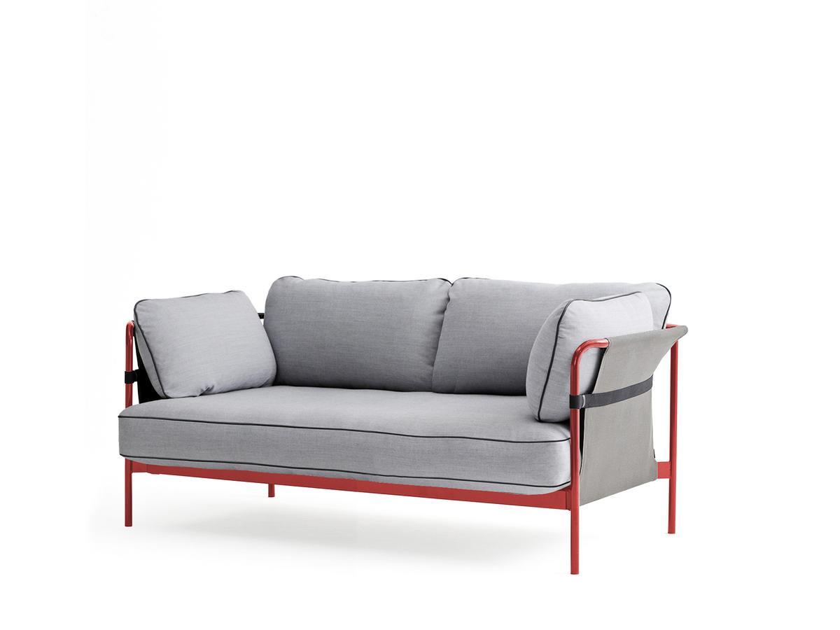 Hay Can Sofa Zweisitzer Warm Red Grau Surface Hellgrau Von Ronan