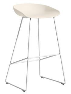 About A Stool AAS 38 Barvariante: Sitzhöhe 74 cm|Stahl pulverbeschichtet weiß|Cream white
