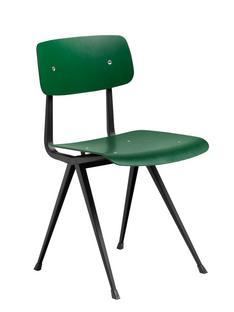 Result Chair Eiche dunkelgrün gebeizt|Stahl pulverbeschichtet schwarz
