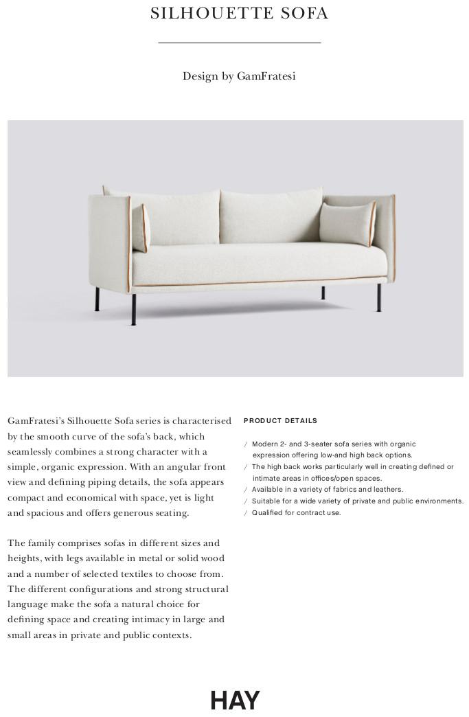 Hay Silhouette Sofa By Gamfratesi Designer Furniture By Smowcom - Moire-unique-sofa-design