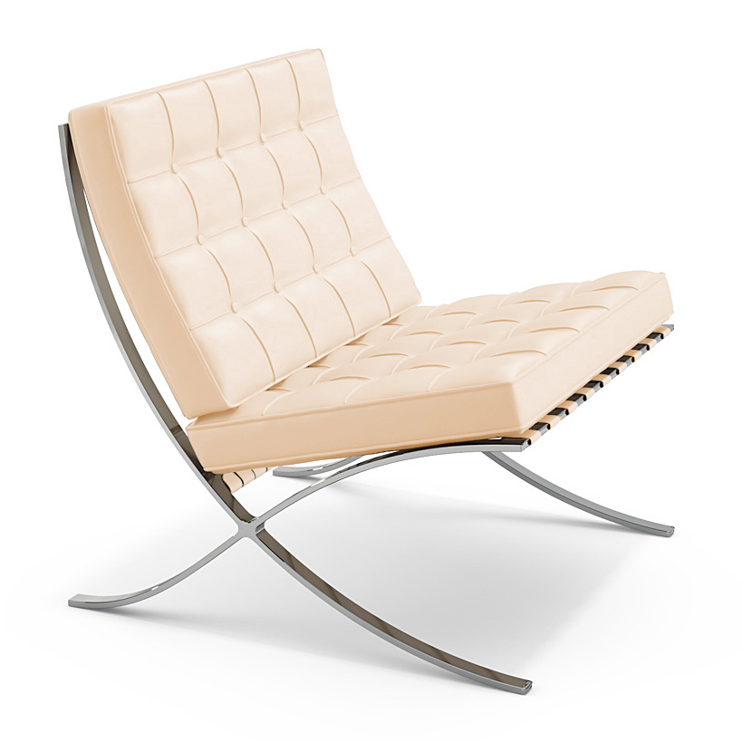 Knoll International Barcelona Sessel Volo Parchment Von Ludwig