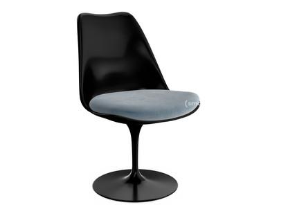 Saarinen Tulip Stuhl nicht drehbar|Sitzkissen|schwarz|Steel (Eva 172)