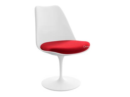 Saarinen Tulip Stuhl Drehbar|Sitzkissen|weiß|Bright Red (Tonus 130)