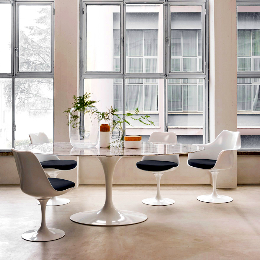 Knoll International Saarinen Tulip Stuhl Von Eero