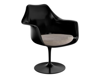 Saarinen Tulip Armlehnstuhl nicht drehbar|Sitzkissen|schwarz|Beige (Eva 177)