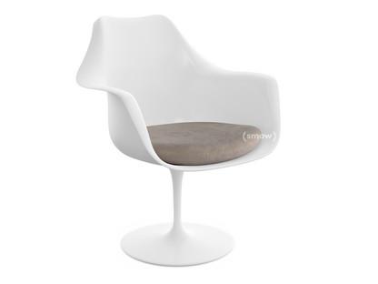 Saarinen Tulip Armlehnstuhl drehbar|Sitzkissen|weiß|Beige (Eva 177)