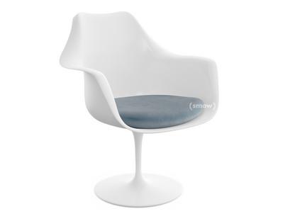 Saarinen Tulip Armlehnstuhl drehbar Sitzkissen weiß Steel (Eva 172)