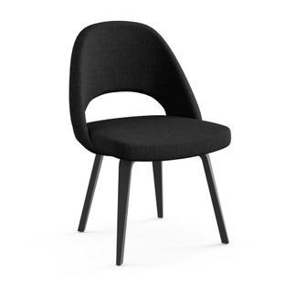 Saarinen Konferenzstuhl ohne Armlehnen|Eiche auf Ebenholz gebeizt|schwarz