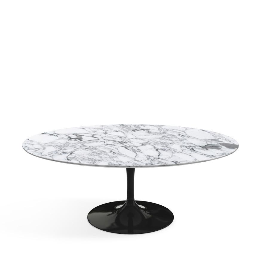 Knoll international saarinen couchtisch oval schwarz for Couchtisch marmor oval