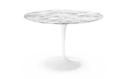 Knoll international saarinen esstisch rund 107 cm wei for Tisch rund marmor