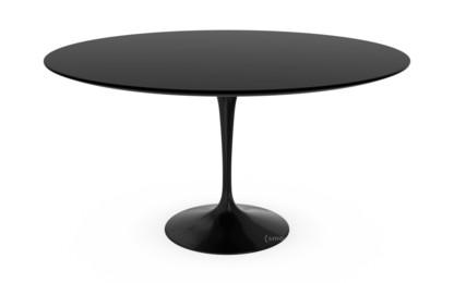 Esstisch schwarz rund  Knoll International Saarinen Esstisch rund, 137 cm, schwarz, Laminat ...
