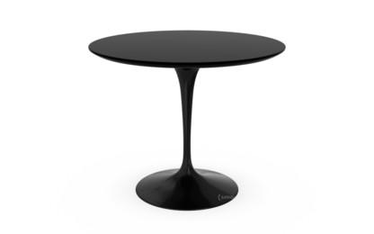 Saarinen Esstisch rund 91 cm|schwarz|Laminat schwarz