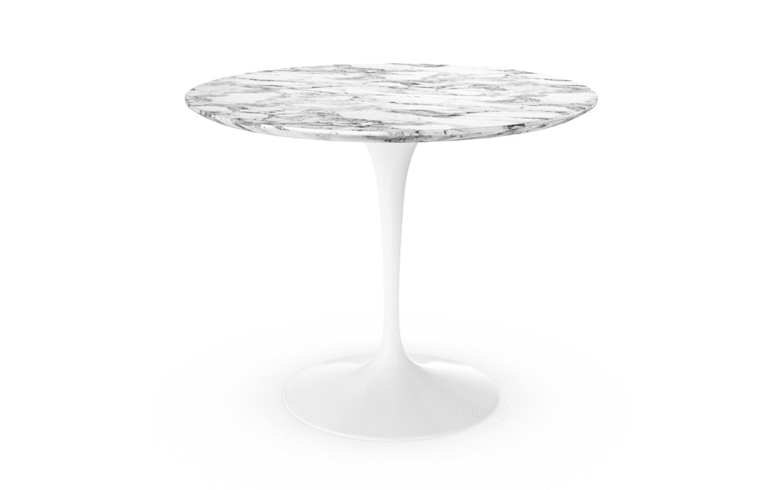 Tisch designklassiker rund  Knoll International Saarinen Esstisch rund, 91 cm, weiß, Marmor ...