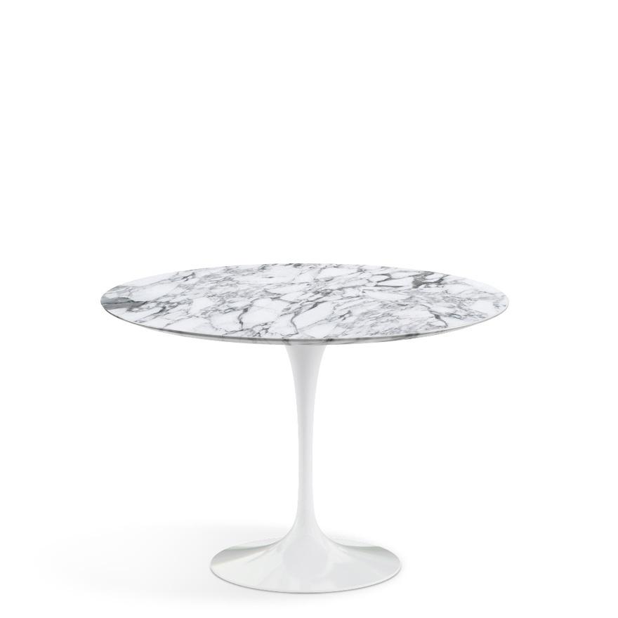 Knoll international saarinen esstisch rund 107 cm wei for Esstisch rund marmor