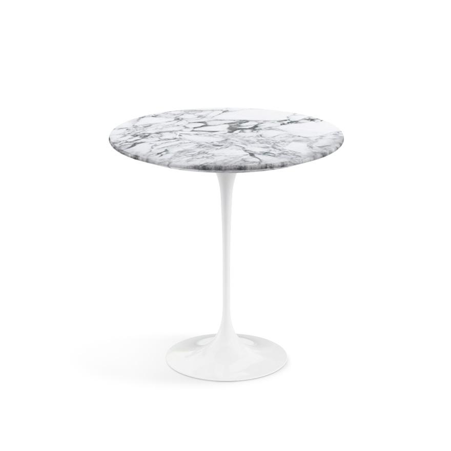 Knoll International Saarinen Beistelltisch Rund 51 Cm Weiss Marmor