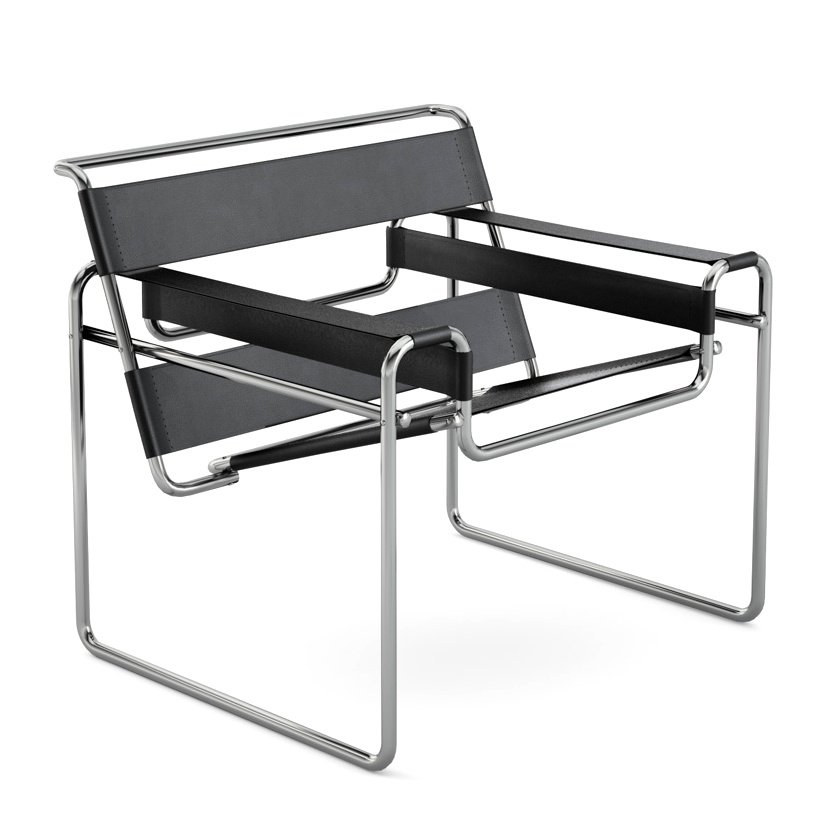 knoll international wassily sessel von marcel breuer 1925 designerm bel von. Black Bedroom Furniture Sets. Home Design Ideas
