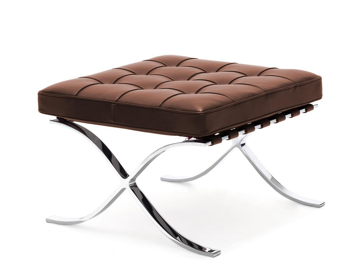 knoll international barcelona hocker relax von ludwig mies van der rohe 1929 designerm bel. Black Bedroom Furniture Sets. Home Design Ideas