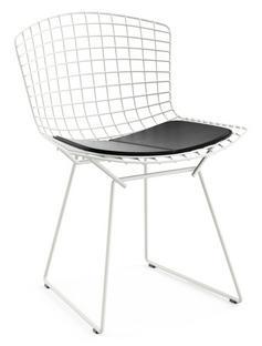 Bertoia Stuhl Weiß|Vinyl schwarz
