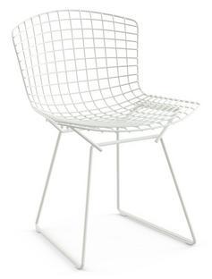 Bertoia Stuhl Weiß Ohne Sitzkissen