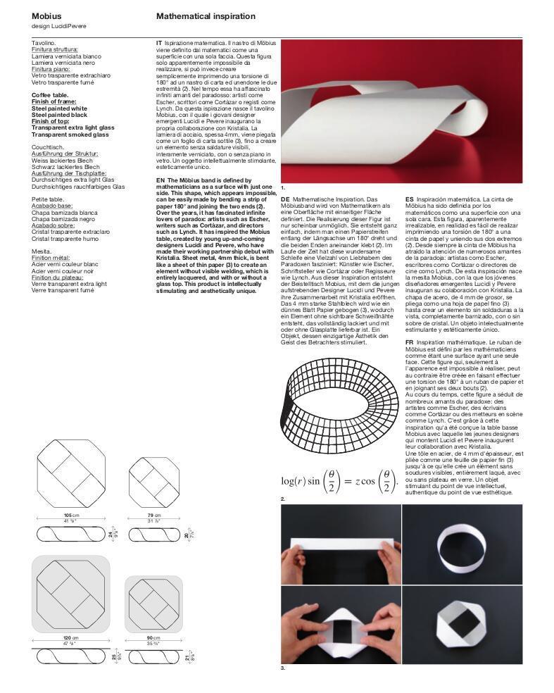 Kristalia Mobius Couchtisch von LucidiPevere, 2008