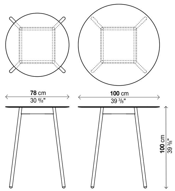 Gut bekannt Kristalia BCN Stehtisch von Harry & Camila - Designermöbel von smow.de GK35