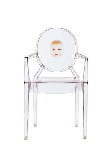 Kartell Louis Ghost, Motiv-Kind von Philippe Starck - Designermöbel ...