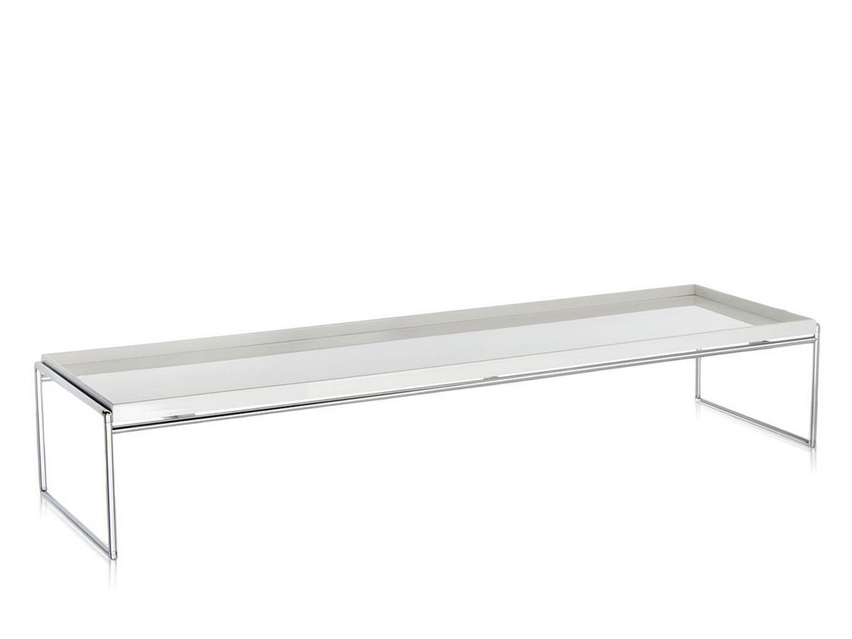 kartell trays tisch 140 x 40 cm wei von piero lissoni. Black Bedroom Furniture Sets. Home Design Ideas
