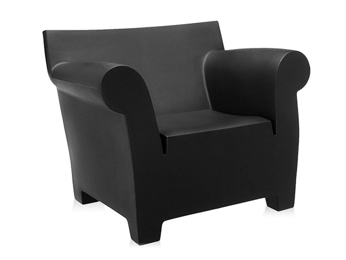 kartell bubble club sessel schwarz von philippe starck. Black Bedroom Furniture Sets. Home Design Ideas