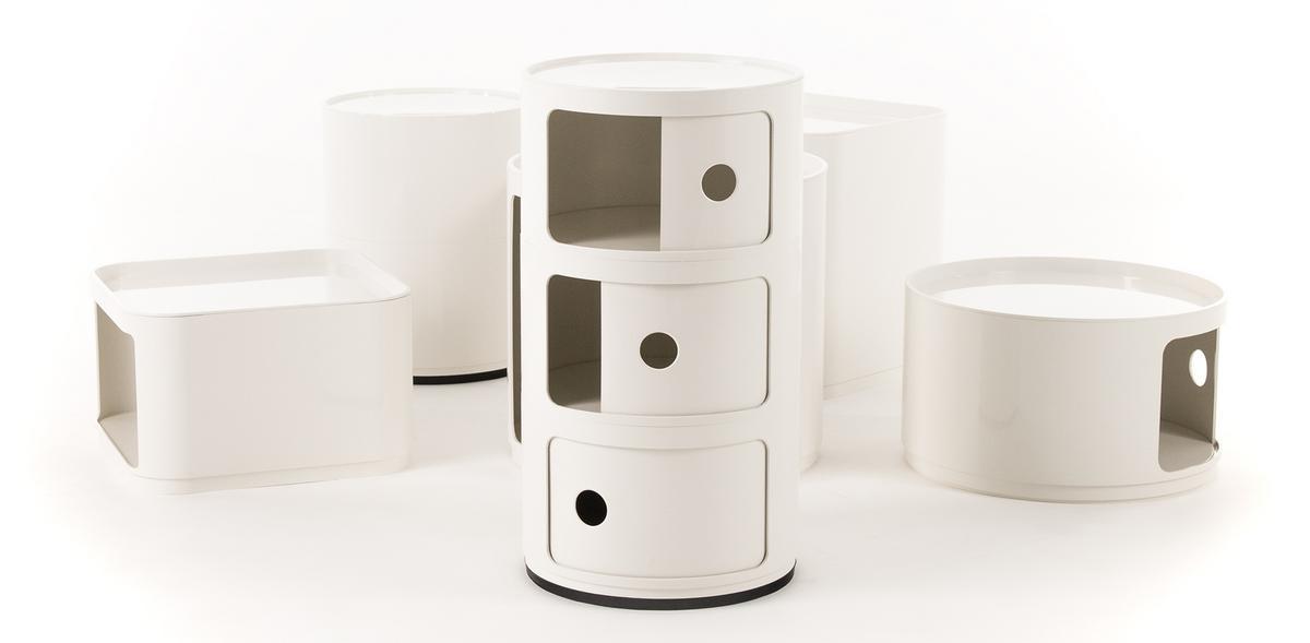 kartell componibili square closure top by anna castelli ferrieri 1967 designer furniture by. Black Bedroom Furniture Sets. Home Design Ideas