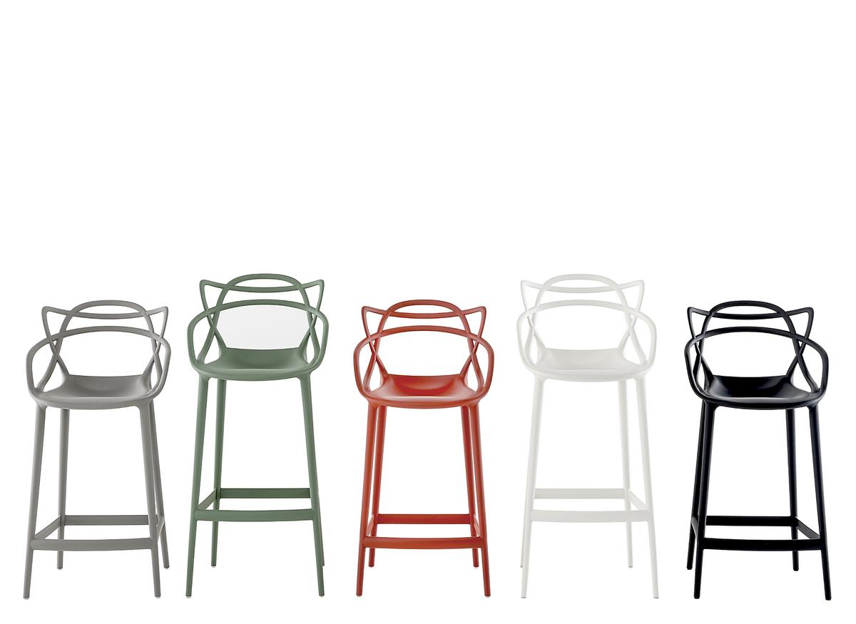 kartell masters barhocker wei k chenvariante 65 cm von. Black Bedroom Furniture Sets. Home Design Ideas