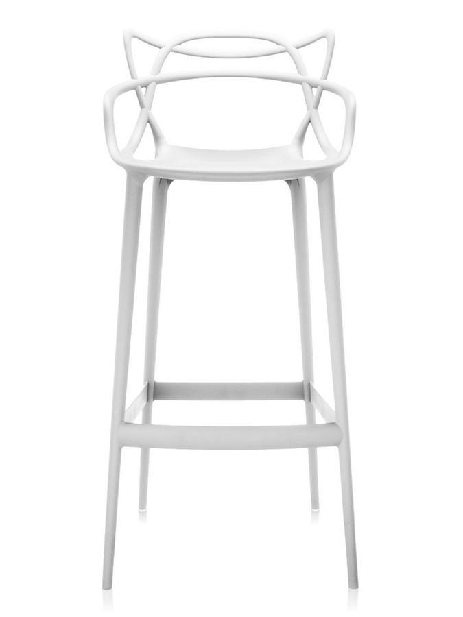 kartell masters barhocker wei barvariante 75 cm von philippe starck eugeni quitllet 2009. Black Bedroom Furniture Sets. Home Design Ideas