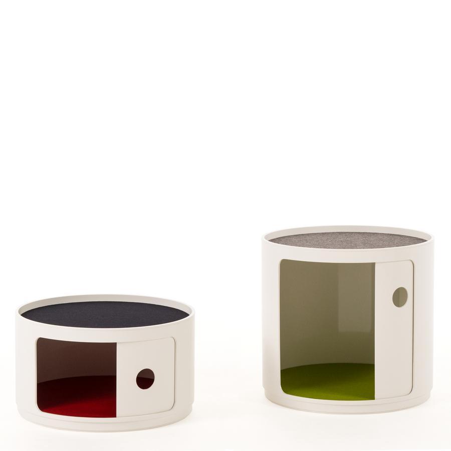 kartell filzauflage f r componibili 1 eckig abgerundet. Black Bedroom Furniture Sets. Home Design Ideas