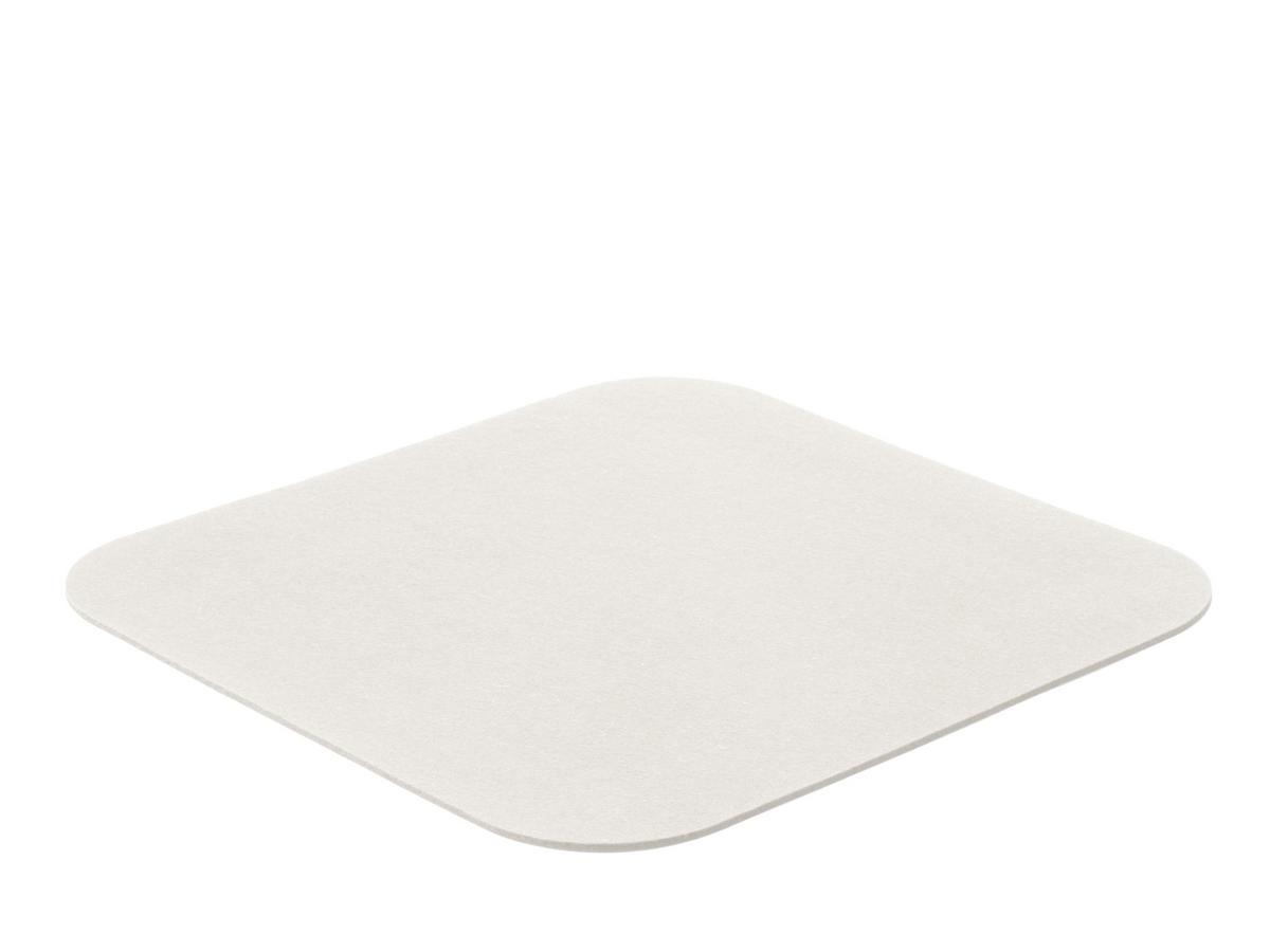 kartell filzauflage f r componibili 1 eckig abgerundet 36 x 36 cm wollwei designerm bel. Black Bedroom Furniture Sets. Home Design Ideas