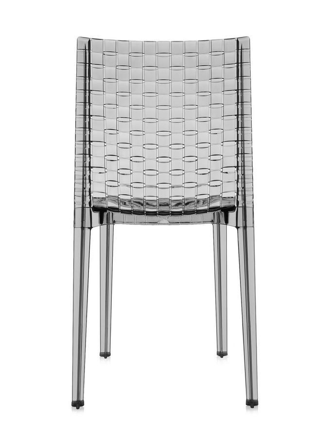 kartell ami ami stuhl transparent rauchfarben von tokujin. Black Bedroom Furniture Sets. Home Design Ideas