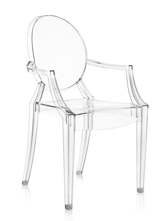 Kartell Louis Ghost 4er-Set von Philippe Starck, 2002 ...
