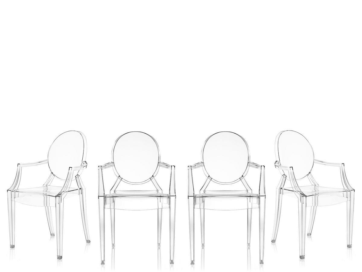 Kartell Louis Ghost 4er-Set von Philippe Starck, 2002 ...